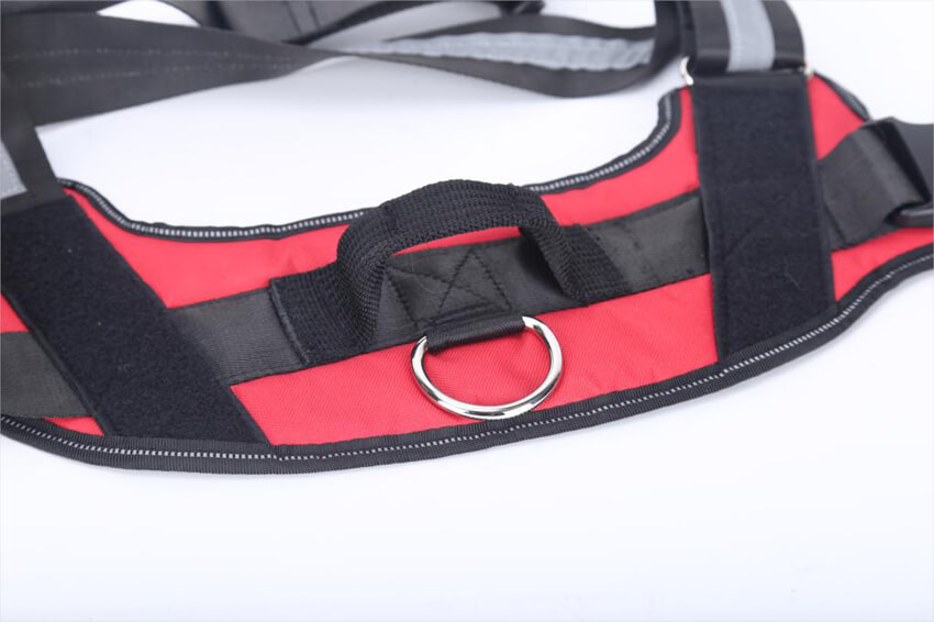 Personalized Dog Harness Reflective Breathable Adjustable with Custom Patch details
