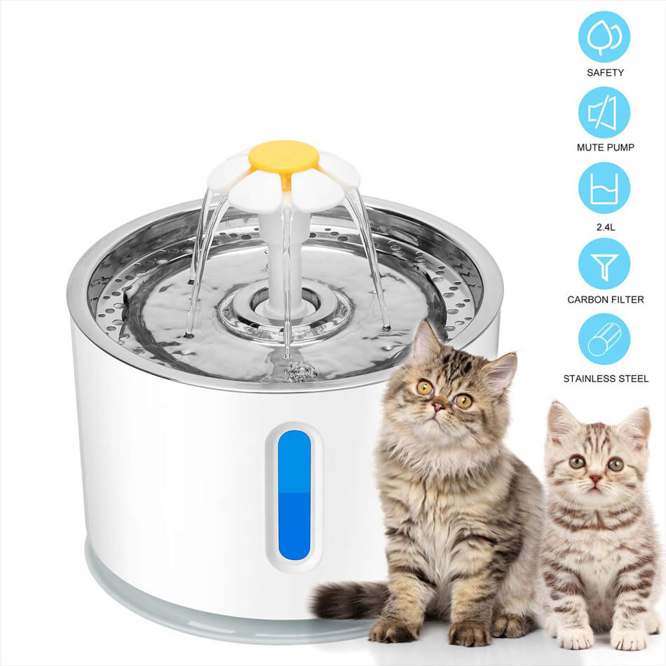 USB Automatic Fountain Electric LED Drinking Fountain details 1